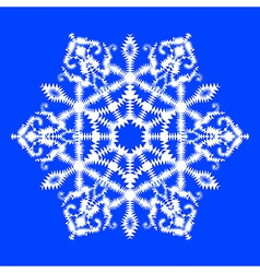 snowflake on blue background vector image