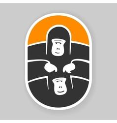 Symbol primate gorilla vector