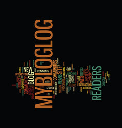 the buzz about mybloglog text background word vector image vector image