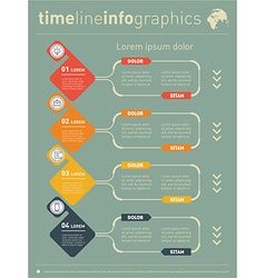 Web Template for diagram or presentation with vector image vector image