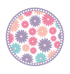 white background with colorful circular frame with vector image vector image