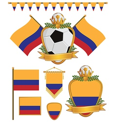 Colombia flags vector