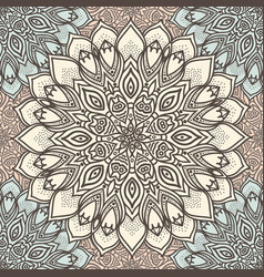 Highly detailed mandala seamless pattern in a vector
