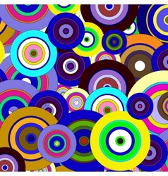 Circles colorful pattern vector