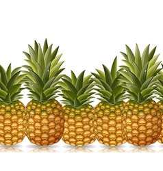 Seamless border of pineapple vector
