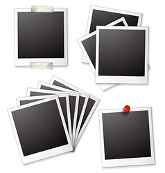 Blank photo frames vector image