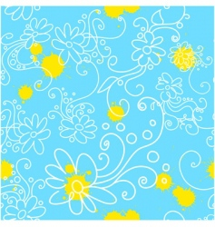 Chamomile seamless vector