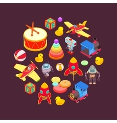 Decorating design made of toys vector