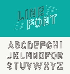Linear font vector