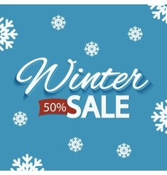 Winter discounts promotional poster vector