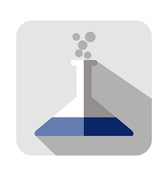Square icon of medical vial vector