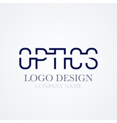 Logo design optics vector