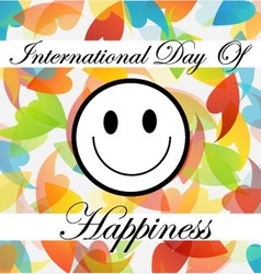 Card for international day of happiness vector