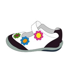 Children sandals for girls vector