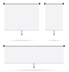 Projector screen set vector
