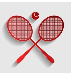 Tennis racket sign vector