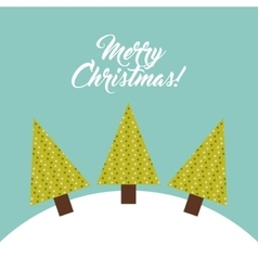 Pine tree and snow icon merry christmas design vector