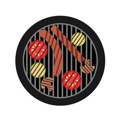 bbq with top view vector image