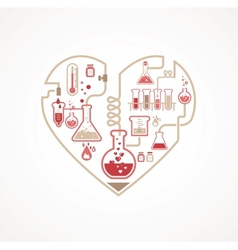 Chemistry of Love vector image vector image