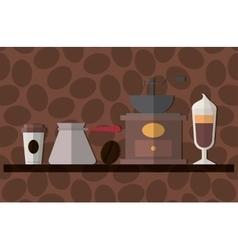 Delicious coffee drink vector image