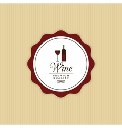 Delicious Wine Label vector image