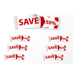 Discount labels tags vector