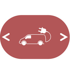 Flat icon of an eco car vector