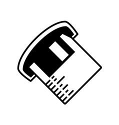 Floppy disk information outline vector