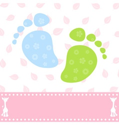 foot of the child vector image
