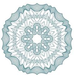 guilloche rosette vector image vector image