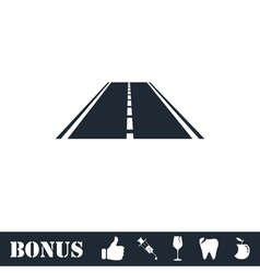 Highway icon flat vector image vector image