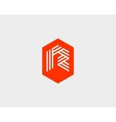 Letter R logo icon design Creative line vector image vector image