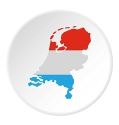 Map of holland icon flat style vector
