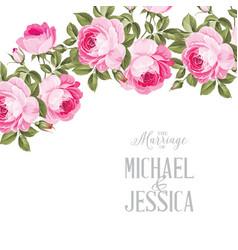 Marriage invitation card vector
