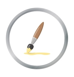 Paint brush cartoon icon for web and vector image vector image