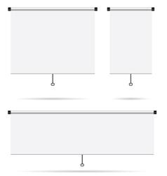 projector screen set vector image