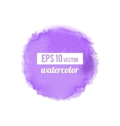 Purple watercolor stain vector