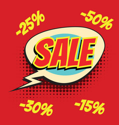 red sale comic word vector image vector image