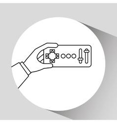 remote control design vector image vector image