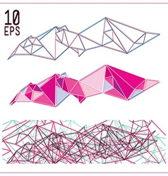 Set of simple geometric abstract colorful figure vector image vector image