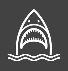 Shark face vector
