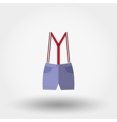 Shorts with suspenders Rompers Icon vector image