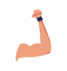 strong arm muscle fitness icon vector image vector image