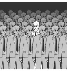 Unique man in the crowd vector