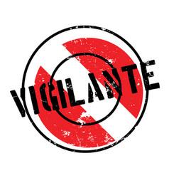 Vigilante rubber stamp vector