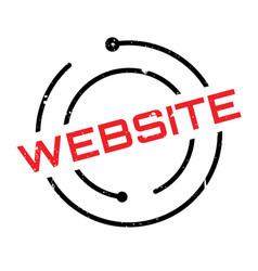 Website rubber stamp vector