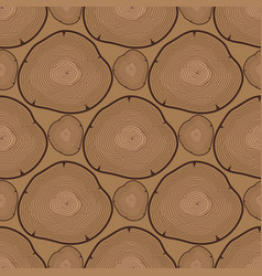 Wood slice texture tree circle cut raw material vector