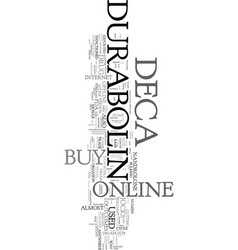 you can buy deca durabolin online or offline text vector image