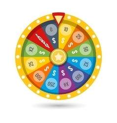 Lucky fortune game wheel vector image