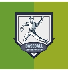 Baseball related icons image vector